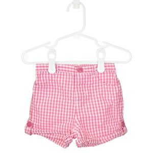 Baby Gap Pink & White Checkered Shorts